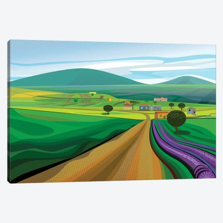 Walla Walla Farms Canvas Print #HRK98} by Charles Harker Canvas Art