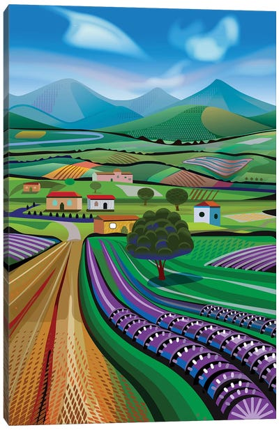 Avocado Hills Canvas Art Print