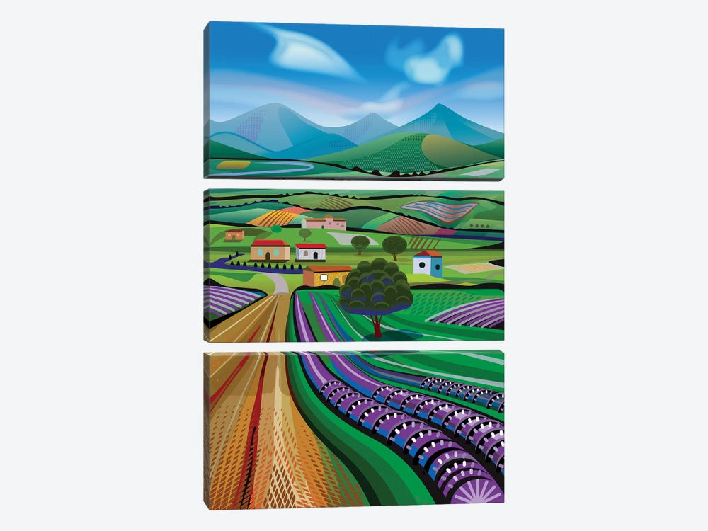 Avocado Hills by Charles Harker 3-piece Canvas Print