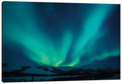 Aurora Borealis Above The Endicott Mountains, Brooks Range, Alaska, USA Canvas Print #HRO2