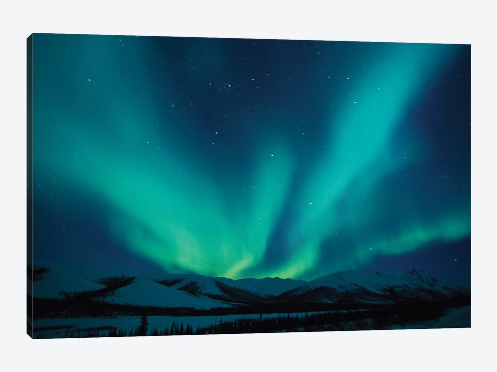 Aurora Borealis Above The Endicott Mountains, Brooks Range, Alaska, USA by Hugh Rose 1-piece Art Print