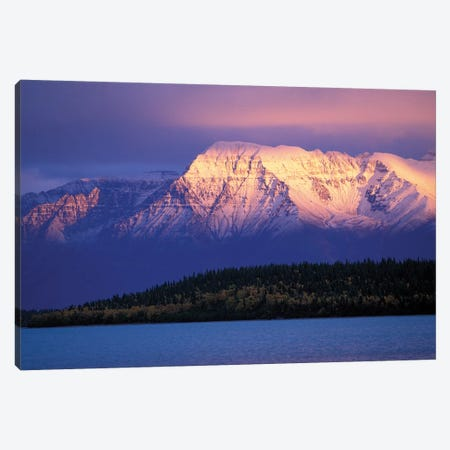Mt. Katolinat With Naknek Lake In The Foreground, Katmai National Park & Preserve, Alaska, USA Canvas Print #HRO3} by Hugh Rose Art Print