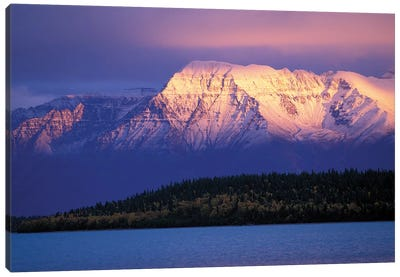 Mt. Katolinat With Naknek Lake In The Foreground, Katmai National Park & Preserve, Alaska, USA Canvas Art Print