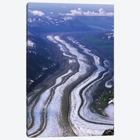Aerial View, Tokositna Glacier, Denali National Park & Preserve, Alaska, USA Canvas Print #HRO4} by Hugh Rose Canvas Art