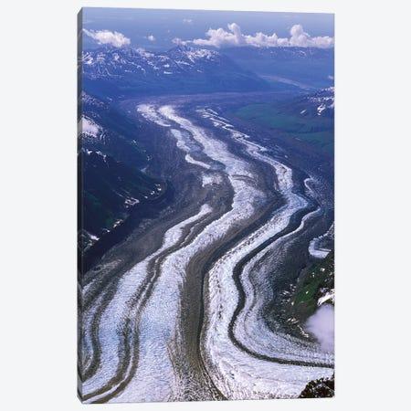 Aerial View, Tokositna Glacier, Denali National Park & Preserve, Alaska, USA Canvas Print #HRO4} by Hugh Rose Canvas Art