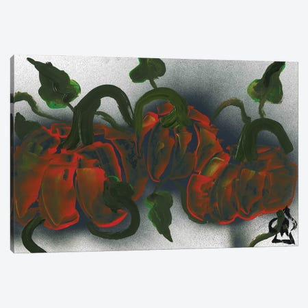 Pumpkins Canvas Print #HRR10} by Andrew Harr Art Print