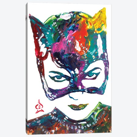 Catwoman Canvas Print #HRR12} by Andrew Harr Canvas Print