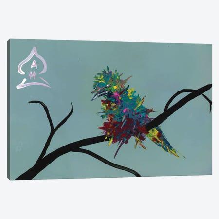 Bird on Branch Canvas Print #HRR19} by Andrew Harr Art Print