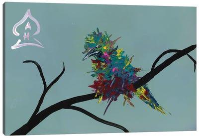 Bird on Branch Canvas Art Print