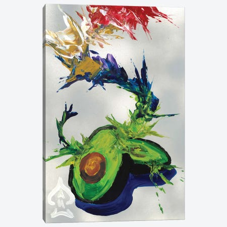 Avocado Abstract Canvas Print #HRR1} by Andrew Harr Canvas Print