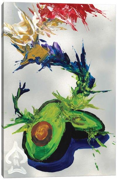 Avocado Abstract Canvas Art Print