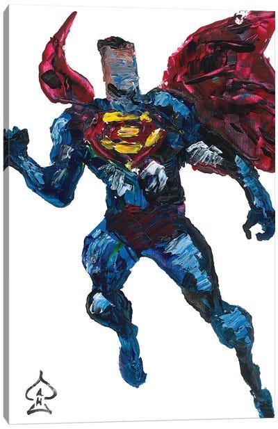 Superman Palette Knife Canvas Art Print