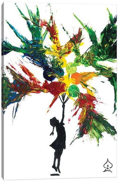 Exploding Balloons Canvas Art Print