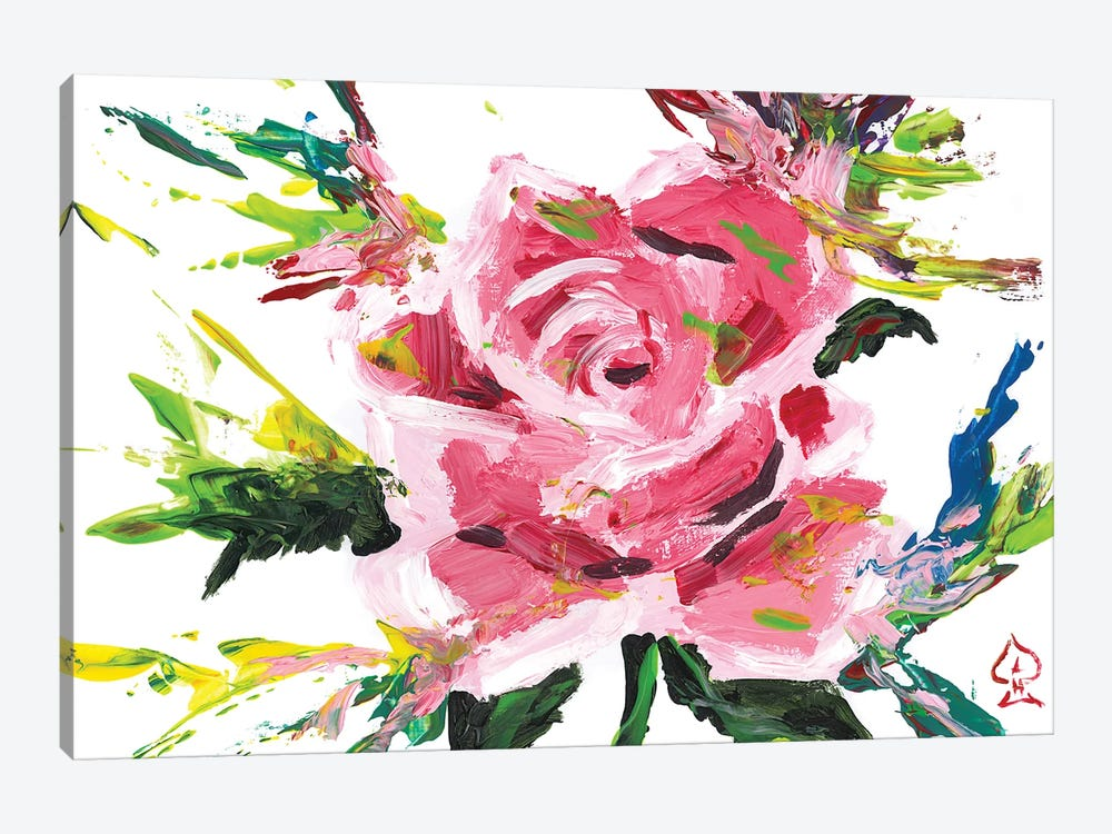 Pink Rose Abstract by Andrew Harr 1-piece Canvas Print
