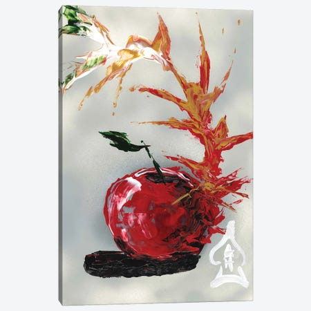 Apple Abstract Canvas Print #HRR2} by Andrew Harr Art Print