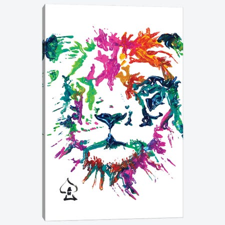 Lion Abstract Canvas Print #HRR34} by Andrew Harr Canvas Wall Art