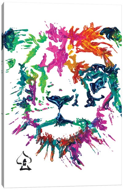 Lion Abstract Canvas Art Print