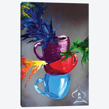 Cups Canvas Print #HRR35} by Andrew Harr Canvas Artwork