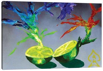 Lime Explosion Canvas Art Print