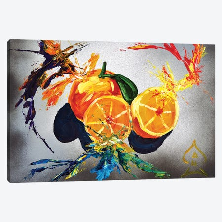 Orange Explosion Canvas Print #HRR38} by Andrew Harr Canvas Print