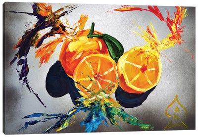 Orange Explosion Canvas Art Print