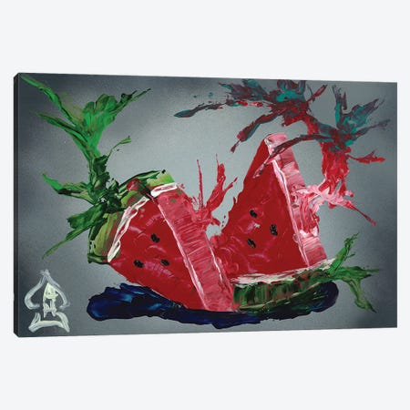 Watermelon Explosion Canvas Print #HRR39} by Andrew Harr Canvas Print