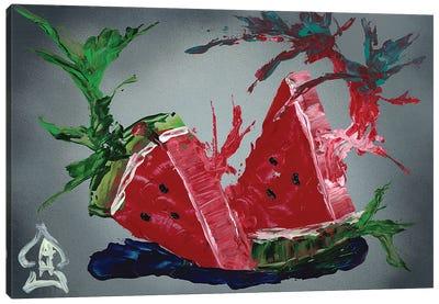 Watermelon Explosion Canvas Art Print