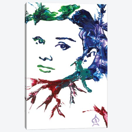 Audrey Hepburn Abstract I Canvas Print #HRR3} by Andrew Harr Canvas Print