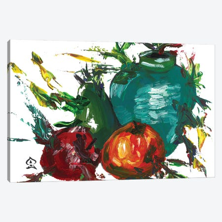 Fruits and Vase Canvas Print #HRR40} by Andrew Harr Canvas Art