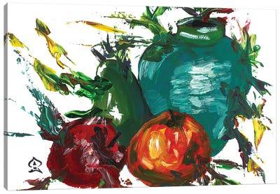 Fruits and Vase Canvas Art Print