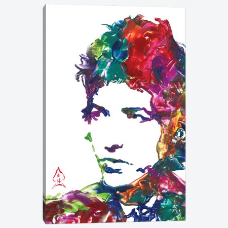 Bob Dylan Canvas Print #HRR42} by Andrew Harr Canvas Artwork
