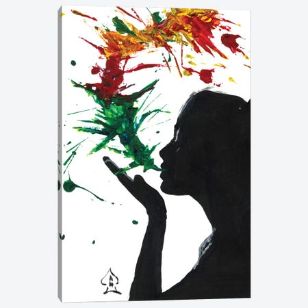 Abstract Kiss Canvas Print #HRR43} by Andrew Harr Canvas Art