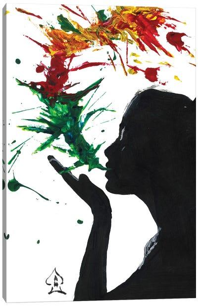 Abstract Kiss Canvas Art Print
