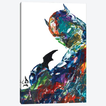 Batman Abstract II Canvas Print #HRR50} by Andrew Harr Art Print