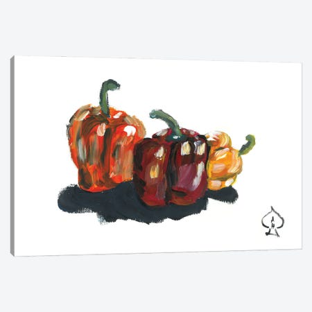 Peppers Still Life Canvas Print #HRR56} by Andrew Harr Canvas Art