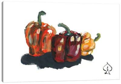 Peppers Still Life Canvas Art Print