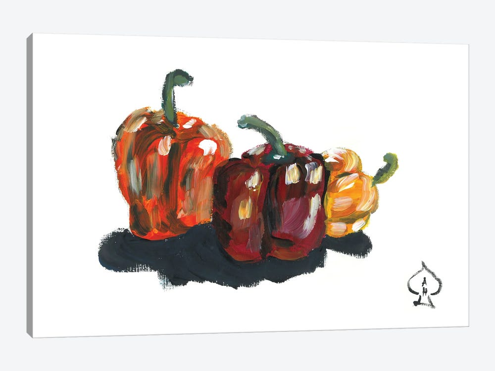 Peppers Still Life by Andrew Harr 1-piece Canvas Art Print