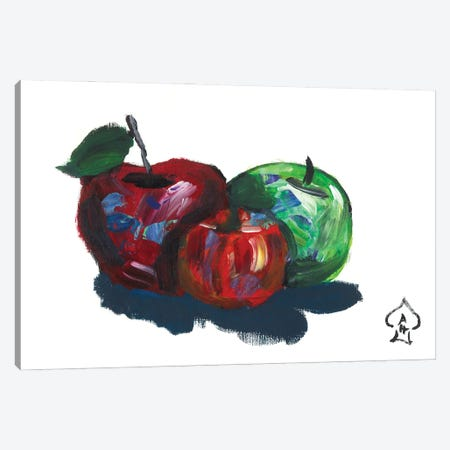 Apples Canvas Print #HRR57} by Andrew Harr Canvas Wall Art