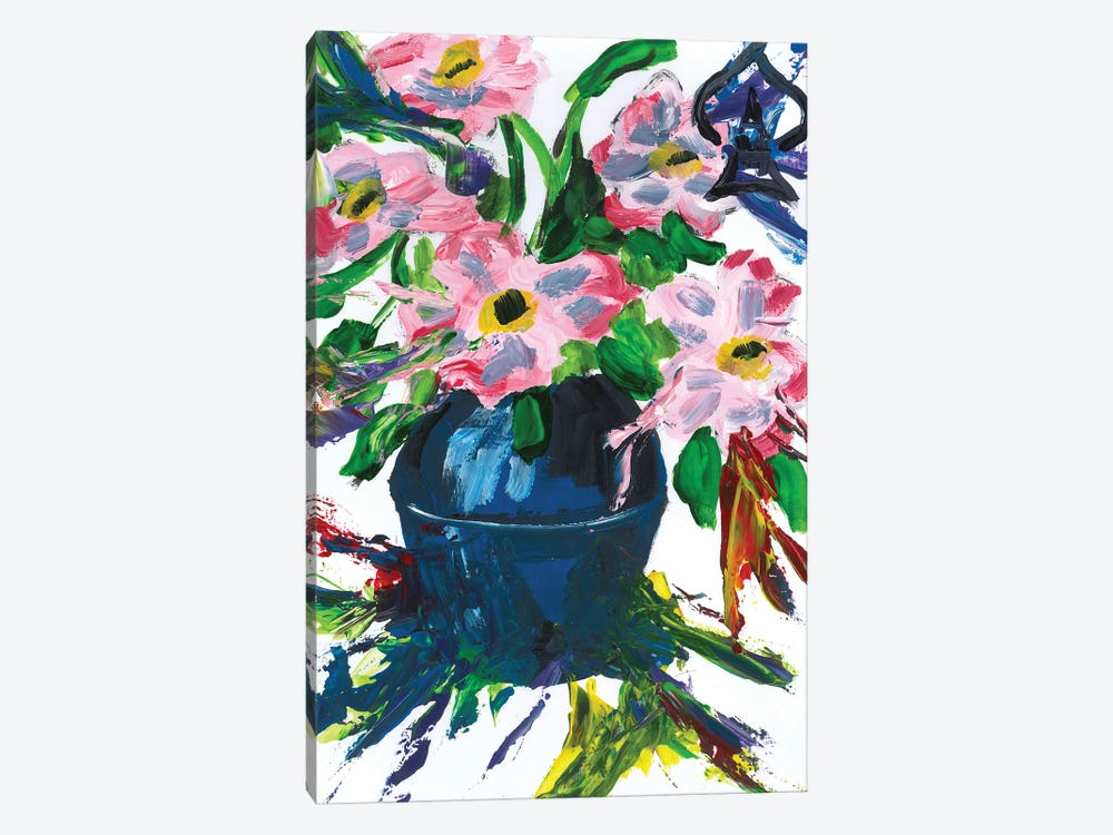 Flowers In Vase by Andrew Harr 1-piece Canvas Print