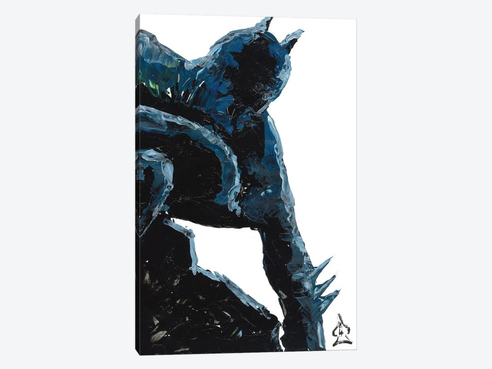 Batman Abstract III by Andrew Harr 1-piece Canvas Wall Art