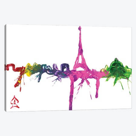 Paris City Abstract Canvas Print #HRR5} by Andrew Harr Canvas Artwork