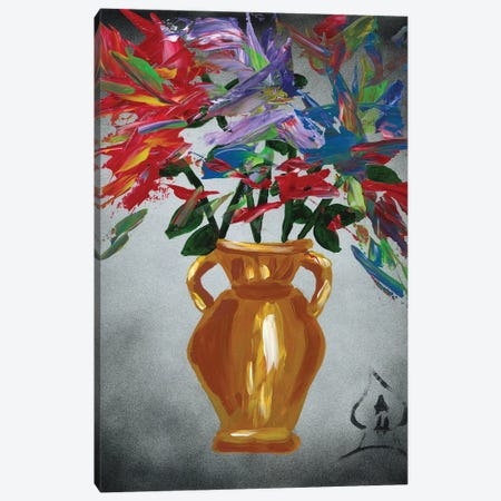 Vase Explosion Canvas Print #HRR60} by Andrew Harr Canvas Art