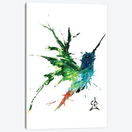 Hummingbird Abstract Canvas Print #HRR8} by Andrew Harr Canvas Art Print