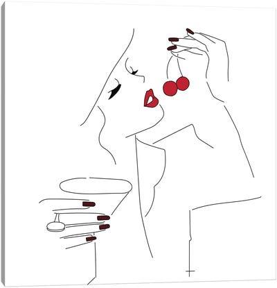 Cherry Picking. Canvas Art Print