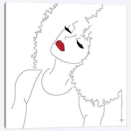 Nay To The Brush. Canvas Print #HRS27} by Antonia Harris Canvas Artwork