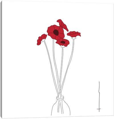 Peppy Poppies. Canvas Art Print