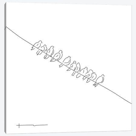 Squab For Dinner, Pass The Gun! Canvas Print #HRS35} by Antonia Harris Art Print