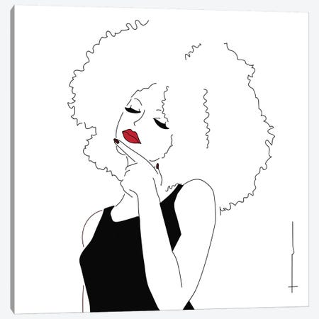 The Hair Has Absorbed My Comb. Canvas Print #HRS38} by Antonia Harris Canvas Wall Art