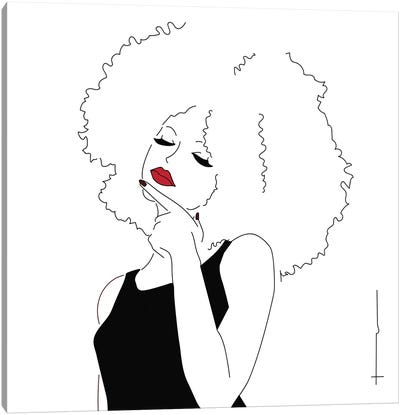 The Hair Has Absorbed My Comb. Canvas Art Print