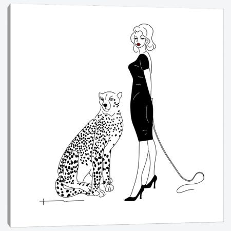 You Said I Could Get A Cat. Canvas Print #HRS47} by Antonia Harris Canvas Art